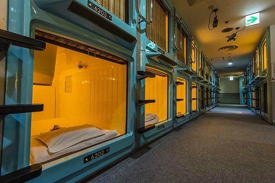 Unusual capsule hotel Tokyo
